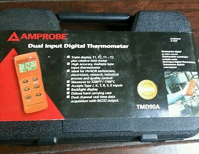 Amprobe TMD90A Dual Input Digital Thermometer