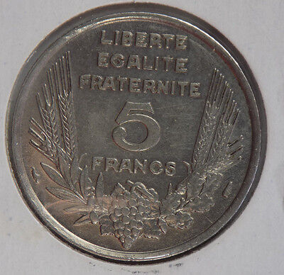France 1933 5 Francs coin - High Grade