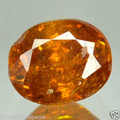 0.90 Cts Natural Sphalerite Sunset Orange Oval Cut Spain Gem (FREE SHIPPING)