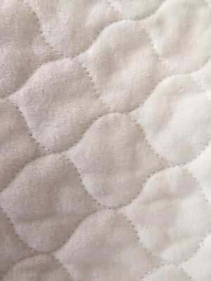 Baby Waterproof Quilted Crib Mattress Cover Pad Organic Cotton Soft EUC