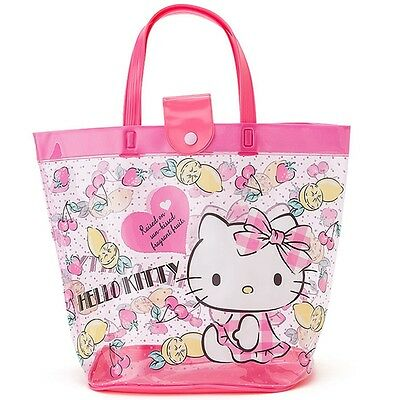 Sanrio Hello Kitty Beach Bag Clear Shopper Shoulder Tote Bag PVC Spa Bag GKHK055