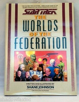 """Star Trek~The World's of the Federation""~First Edition~HCDJ ~1989 ~ Great Gift"