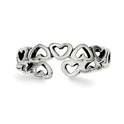Sterling Silver Heart Toe Ring. Metal Wt-0.95g