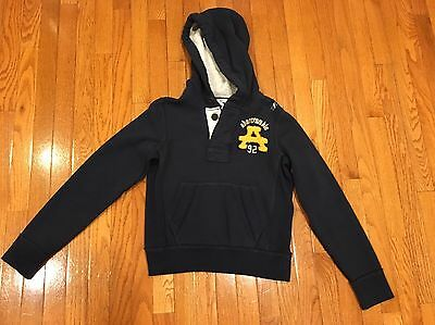 Brand New Abercrombie Boys Muscle Hoodie Hooded Sweatshirt Size Large
