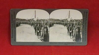 Vintage Keystone Stereoview Card WWI British Soldiers in France