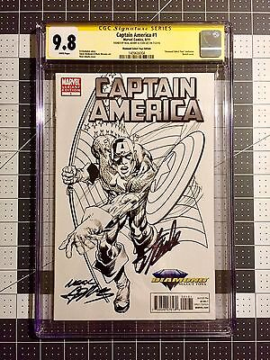 Captain America #1 Signed By Neal Adams & Stan Lee CGC 9.8 Diamond exclusive