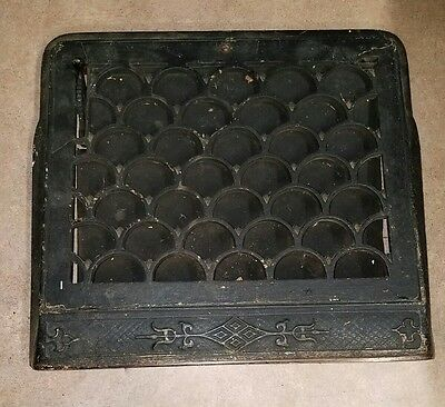 Original Period Victorian Furnace Vent Grate Cover Scallop Design Cast Iron #3