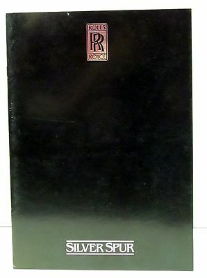 1981 or 1982  ROLLS ROYCE SILVER SPUR sales brochure catalog