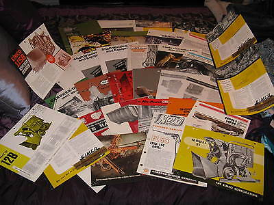 Large Lot of 36 Vintage Mining Machinery Equipment Brochures Booklets Ads