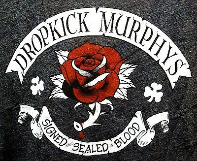 Dropkick Murphys Signed And Sealed In Blood Rose In Crest Design Ladies Xl Shirt