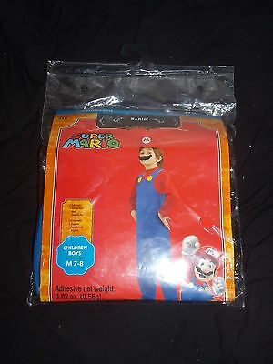 Nintendo Super MARIO Kids Boys Costume Medium 7 8 Halloween Play Dress Up