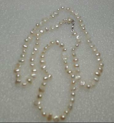 NEW Sterling Silver Freshwater Pearl Bracelet and Necklace: White $100