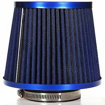 Blue Universal Car Auto Air Intake Filter Induction Kit Sports Mesh Cone Cleaner