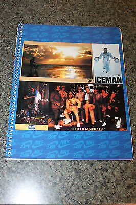 Vintage 80's Nike Spiral Bound Notebook - Posters Cover-Iceman, Field Generals,