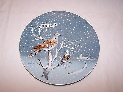 """Haviland Limoges The Twelve Days of Christmas """"Two Turtle Doves"""" Plate"""
