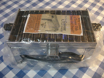 Antique Sunbeam No. 4 Flat Toaster, Manual, & Cord