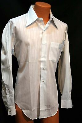 L 16 1/2 35 Sleeve MENS White Woven NOS Vtg 70s Arrow Belmont Club Dress Shirt