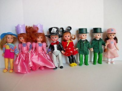 McDonalds Lot of 8 Madame Alexander 4-5 inch Dolls From 2003-2010