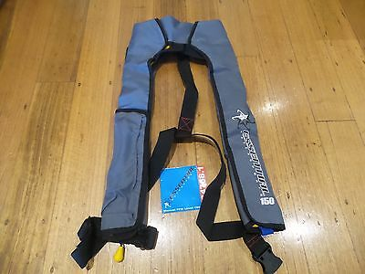 1 x Life Jacket  Inflatable PFD 1 Essential 150N - Grey Safety Vest