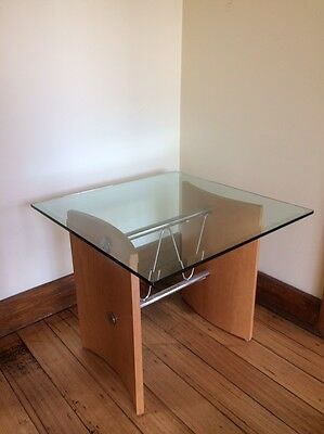 Square Glass Top Coffee Side Table