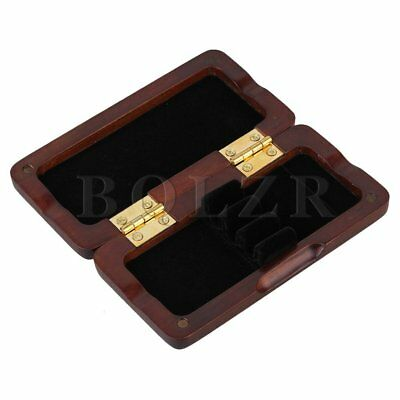 Oboe Reed Case Spray Lacquer Surface Solid Wood Holds 3 Oboe Reeds Maroon