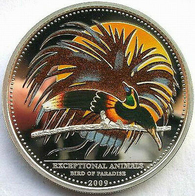 Palau 2009 Paradise Bird 5 Dollars Silver Coins,Proof