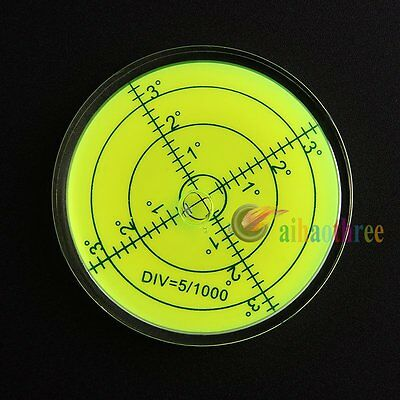 60x12mm Disc Bubble Spirit Level Round Circular Circle Level For Measuring Tool