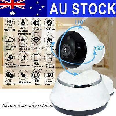 Night Vision Wireless Pan Tilt HD720P IP WiFi Camera Security CCTV Network IR AU