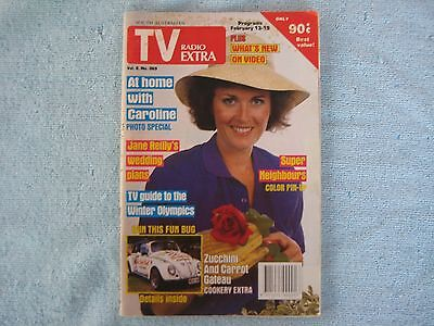 TV Radio Extra Mag 1988. VW Bug Comp. Super Neighbours Pin Up, George Michael