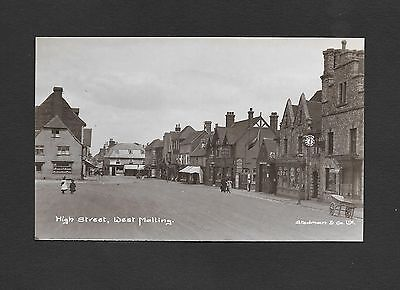 Early Edwardian Photographic Postcard High Street West Malling Fire Station