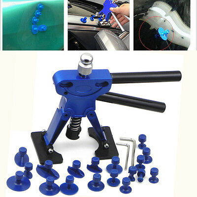 New Car Body Dent Lifter Puller Hail Repair Removal Tool + 18pcs colle Tabs