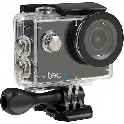 Tec  HD 720P Waterproof Action Camera with Screen and Accessories Black