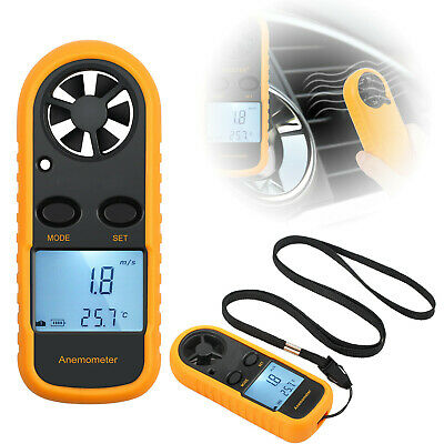 Digital LCD Anemometer Air Wind Speed Meter Tester Temperature Gauge Thermometer