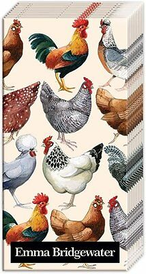 Pack of 10 Beautiful 4ply Pocket Tissues / Pure Breed Poultry / Chickens & Hens