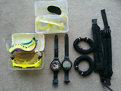 TUSA LIBERATOR PLUS MASK / GOGGLES WITH CASE diving equipment