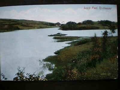 Postcard Rothesay Loch Fad On The Island Of Bute Bute