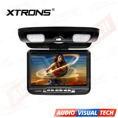 CAR/CARAVAN Roof Mounted Flipdown Overhead DVD Player/Monitor Games USB SD Black
