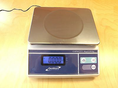 Genware NACS06 Electronic Digital Scales - 6KG x 0.001KG
