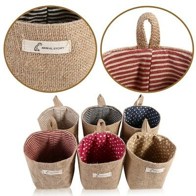 Cotton Linen Drawstring Storage Bag Toy Shoes Laundry Organizer Travel Pouch Hot