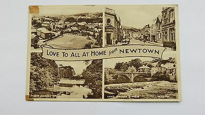 Postcard Newtown, Montgomeryshire, Wales. Photo registered 1949. Posted 1952.