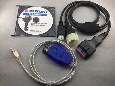 SUZUKI Diagnostic CABLE KIT FOR DF70A/80A/90A Free Shipping