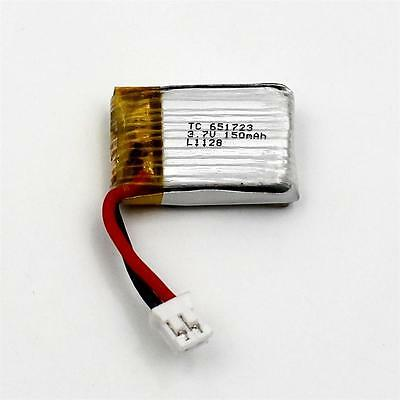 2 Wire H36 30C 3.7V 150mAh Li-Po Rechargeable Battery Cell GPS Bluetooth