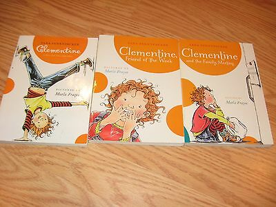 Lot of 3: Clementine by Sara Pennypacker Paperback BOOKS #1, 4 & 5