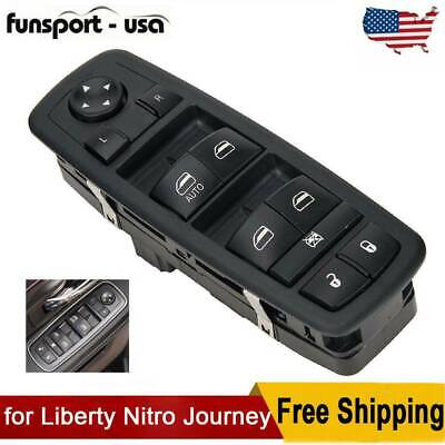 Fit For 2007-2012 Dodge Journey Left Side Power Window Lifter Master Switch