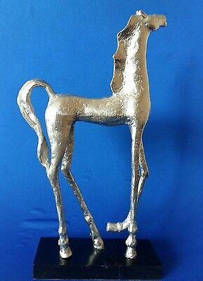 Superb Stylized Metal Horse Sculpture 17 inches