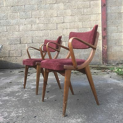 Vintage Pair Of Ben Chairs Bentwood Armchairs For Upholstery