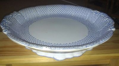 ANTIQUE COPELAND DISH c1847-1870 V RARE CHINA BLUE & WHITE SCALLOPED OLD UNUSUAL