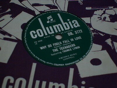 """Frankie Lymon & The Teenagers 78 Rpm """"why Do Fools Fall In Love/please Be Mine"""""""