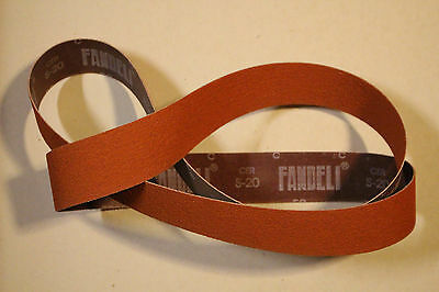 "2"" x 72"" Orange Ceramic Sanding Belt Assortment-(3)ea 36, 60, 120 grit- 9 Belts"