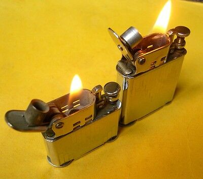 LOT DE 2 briquet essence Abdulla  - French vintage lighter Feuerzeug